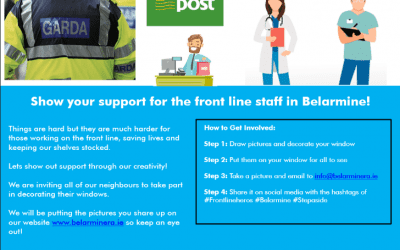 Showing your support for the front line staff in Belarmine!